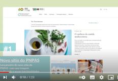 PNPAS lança vídeo sobre as iniciativas de 2020