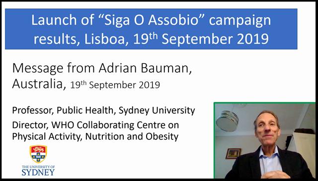 Vídeo com os comentários do Professor Adrian Bauman