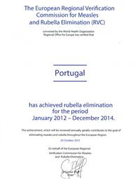 OMS reconhece Portugal sem Rubéola e Sarampo