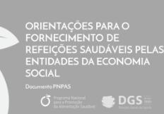 Orientações para o fornecimento de refeições saudáveis pelas entidades da economia social