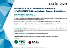 5º Workshop UNL/DGS Epidemiologia das Doenças Respiratórias - Call for Papers