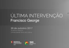 Última intervenção de Francisco George como Diretor-Geral da Saúde