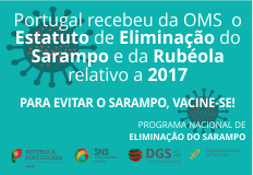 O sarampo e a rubéola mantêm-se eliminados em Portugal